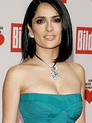 Salma Hayek is still queen of cleavage