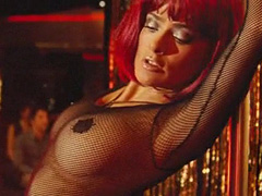 Salma Hayek does hot striptease at stage