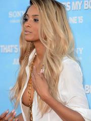 Ciara oops flashes sideboob nipple pasties