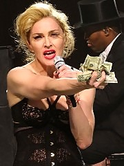 Madonna exposes her nipple on stage