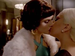 Alexandra Daddario & Lady Gaga Lesbian Kiss in 'American H...