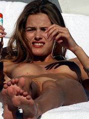 Edita Vilkeviciute topless suntanning big breasts