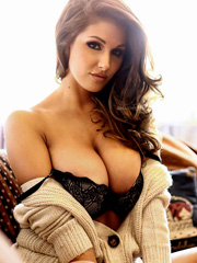Lucy Pinder busty topless and lingerie shots