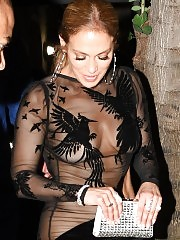 Jennifer Lopez See Through Dress