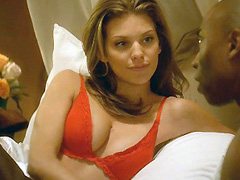 AnnaLynne McCord showing nice cleavage in red bra