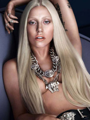 Lady Gaga goes topless for new versace ad