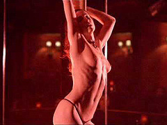 Anne Azoulay topless does hot striptease