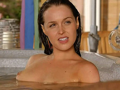Camilla Luddington naked in a hot tub