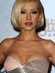 Christina Aguilera sweet sparkling cleavage