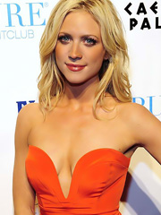 Brittany Snow hot flashes birthday cleavage