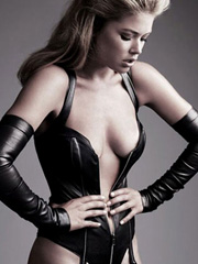 Doutzen Kroes topless and hot in leather