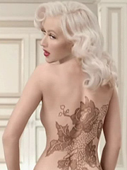 Christina Aguilera naughty tattoo