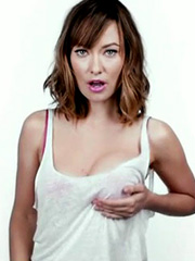 Olivia Wilde jiggling her sweet breasts
