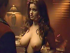 Carrie Stevens large breasts get exposed