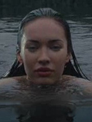Megan Fox swimming completely nude in the pool