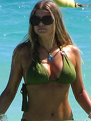 Stacy Ferguson nice boobs in hot bikini