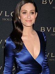 Emmy Rossum hot shows some decent cleavage