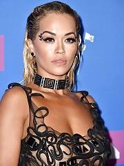 Rita Ora Nipples Visible Through Her Dress At MTV Awards
