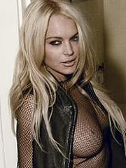Lindsay Lohan see thru nude boobs