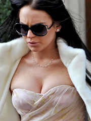 Lindsay Lohan big breasts are real killer