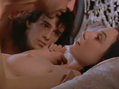 Elsa Zylberstein topless threesome sex act