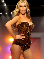 Abigail Clancy sexy lingerie runway show