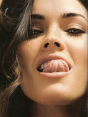 Megan Fox love to do sexy things with her tongue