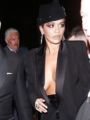 Rita Ora braless and sexy in london and l.a.