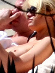 Paris Hilton exposing her sweet perky tits