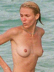 Cameron Diaz nude wet perky tits