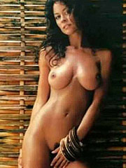 Brooke Burke showing sexy pussy and big bare tits