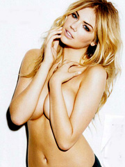 Kate Upton topless but covered for esquire