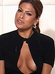 Eva Mendes nipple slip at a big screen show