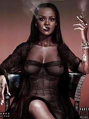 Rihanna Showed Her Tits In See Through Dress & Vogue Paris P...