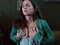 Eliza Dushku squeezes her big breasts