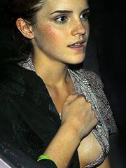 Emma Watson flashes panties and nipple