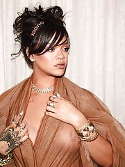 Rihanna Nipples Exposed In See Through Clothes