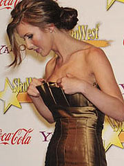 Audrina Patridge showing her big cleavage