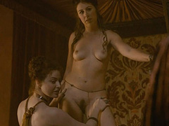 Esme Bianco nude in naughty lesbian action