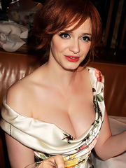 Christina Hendricks hot busty cleavage