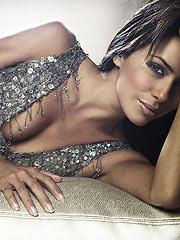 Eva Longoria looking sexy in nice black lingerie