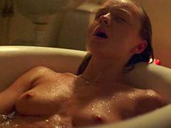 Anna Astrom naked masturbates in bathtub