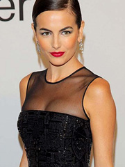 Camilla Belle flashes see through cleavage