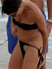 Alessandra Sublet pussy slip in a bikini