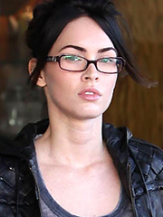 Megan Fox looking like a very sexy nerd