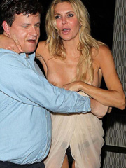 Brandi Glanville drunk nipslip and upskirt