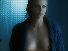 Charlize Theron walking fully naked thru the room