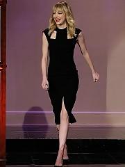 Emma Stone looking beautiful in black dress