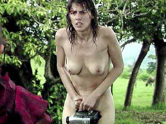 Diana Bernedo nude standing in the rain