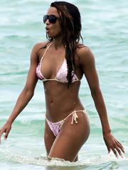 Ciara oops nipple slip in a sexy bikini
